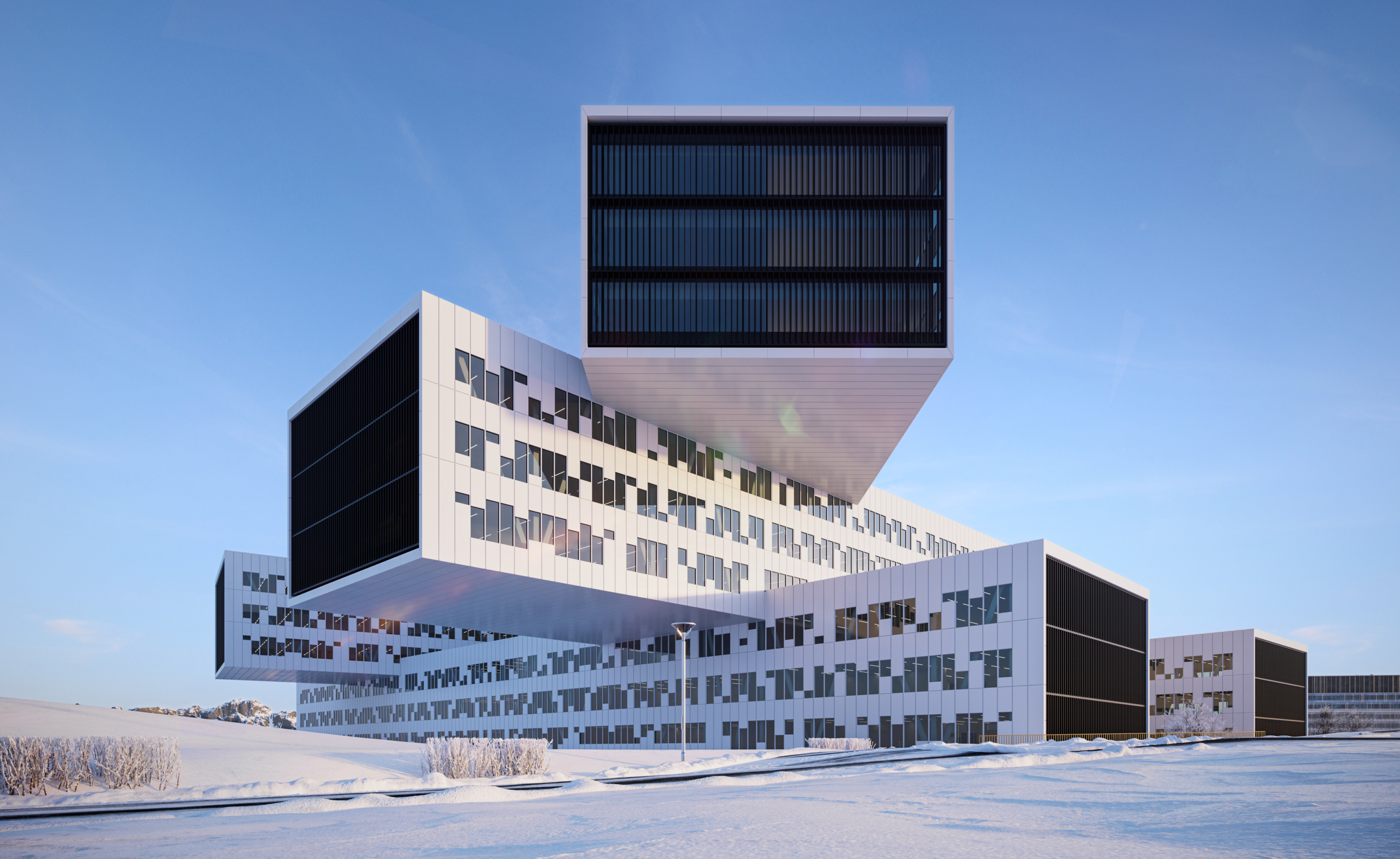 3d rendering Inspired by Statoil HQ in Norway image 2