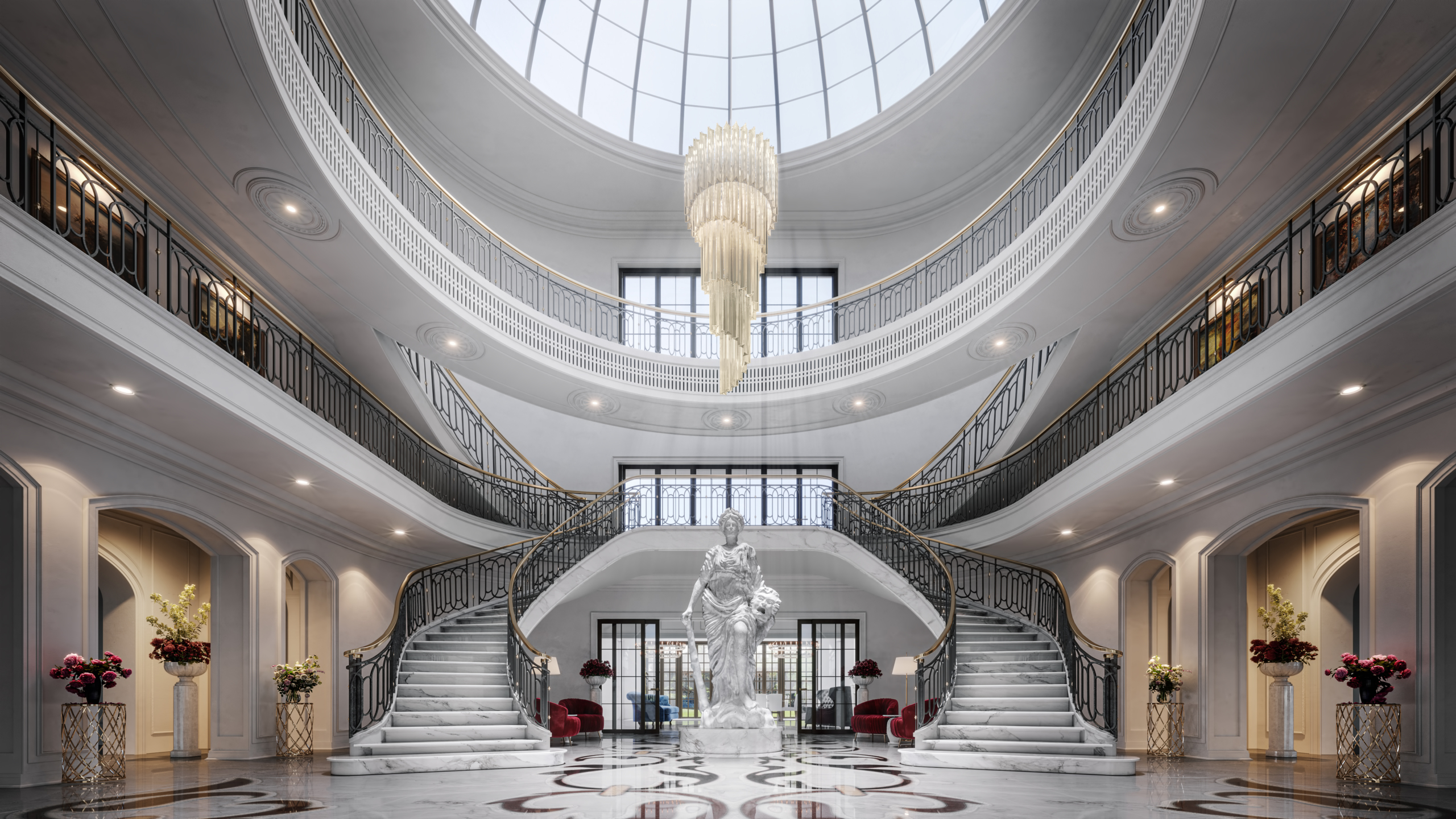 3d-rendering-Main-Hall-Private-Mansion-Italy-image
